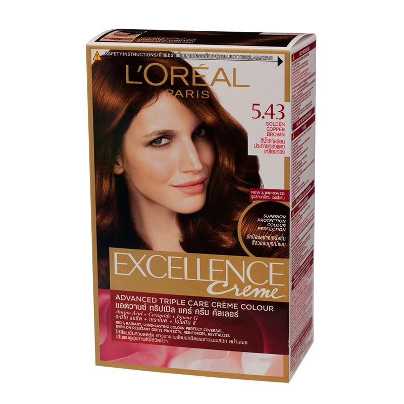 Excellence Golden Copper Brown Hair Colour Cream 5 43 Tops Online