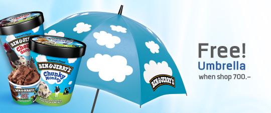 Promotion Ben and Jerry Umbrella EN